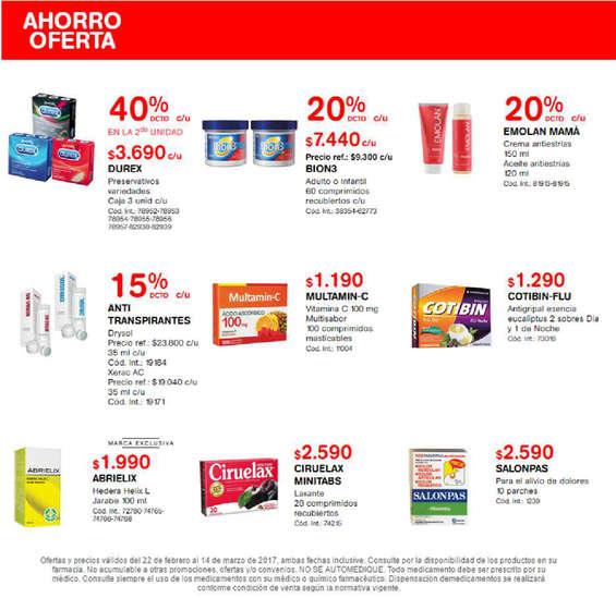 Ofertas de Farmacias Ahumada, ahorro oferta