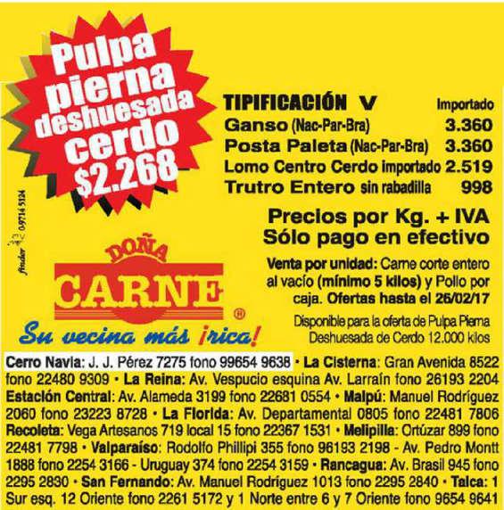 Ofertas de Doña Carne, ofertas doña carne semanal