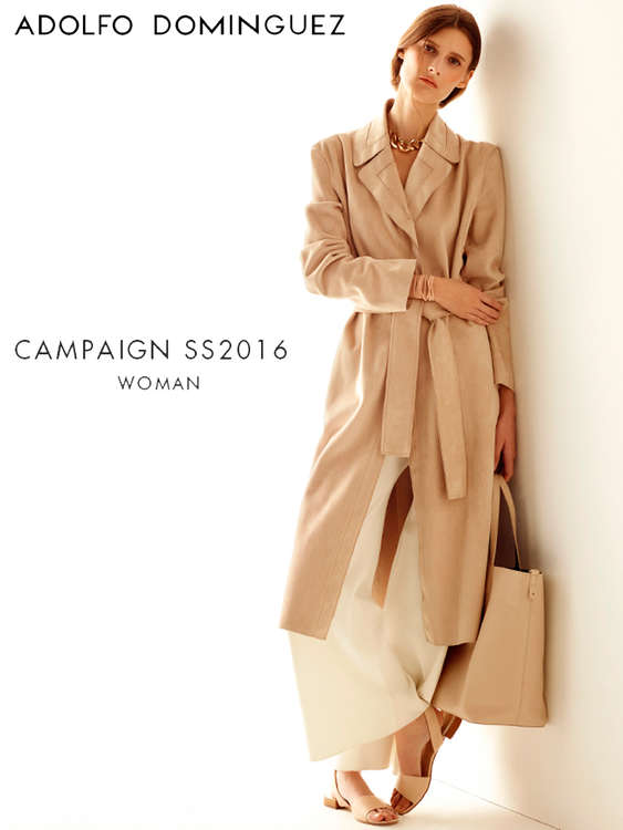Ofertas de Adolfo Dominguez, Campaign SS2016 Woman