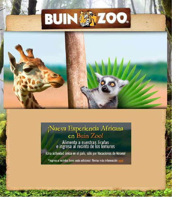 Ofertas de Buin Zoo, ¡Nueva experiencia africana!