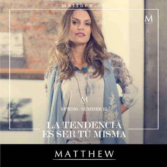 Ofertas de Matthew, la tendencia de ser tu misma