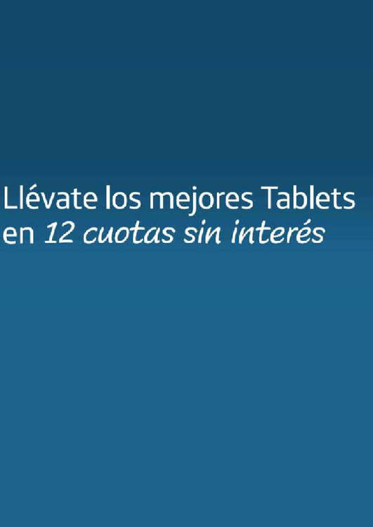 Ofertas de Movistar, tablet en cuotas
