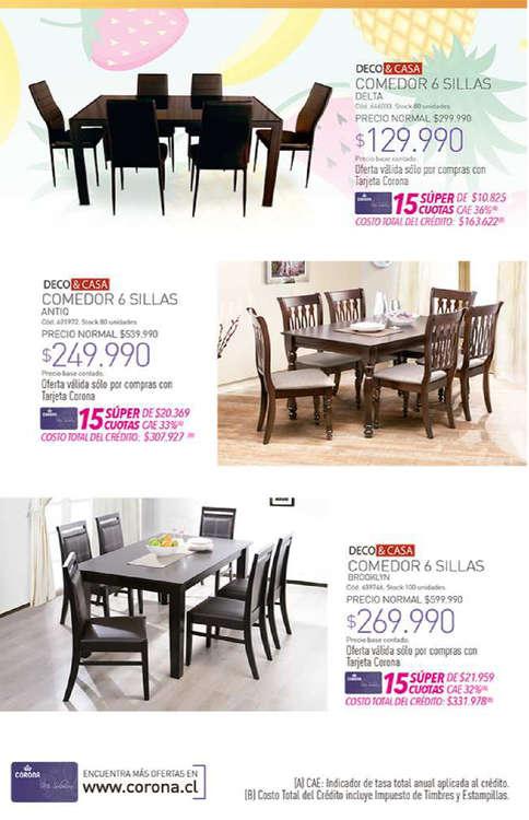 Comprar muebles de comedor en talca ofertas y tiendas for Ofertas de muebles de comedor