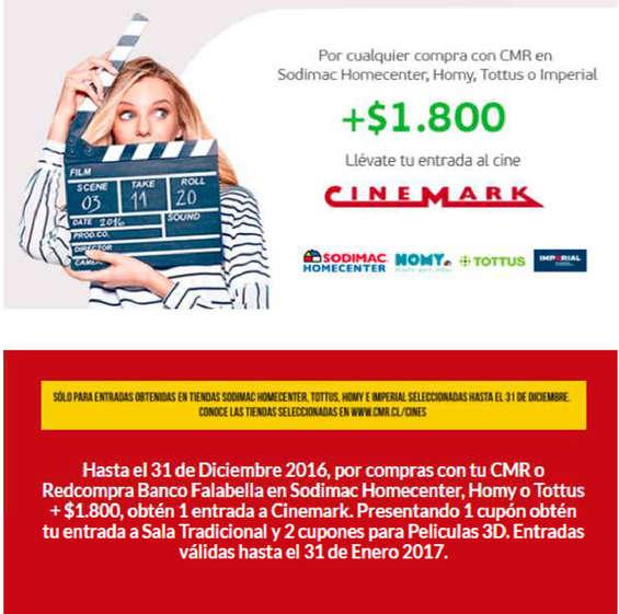 Ofertas de Cinemark, promo fin de año