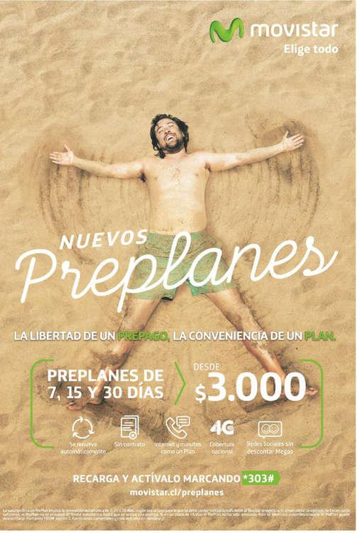 Ofertas de Movistar, nuevos preplanes
