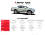 Ofertas de Mitsubishi, Mitsubishi L200 dakar