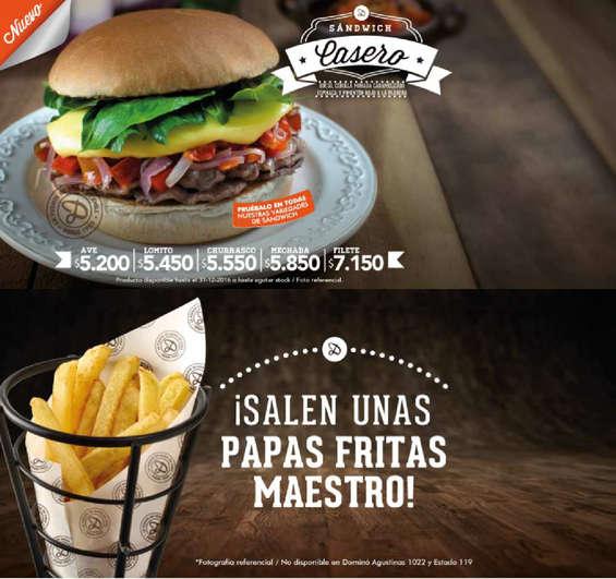 Ofertas de Dominó, sandwich casero