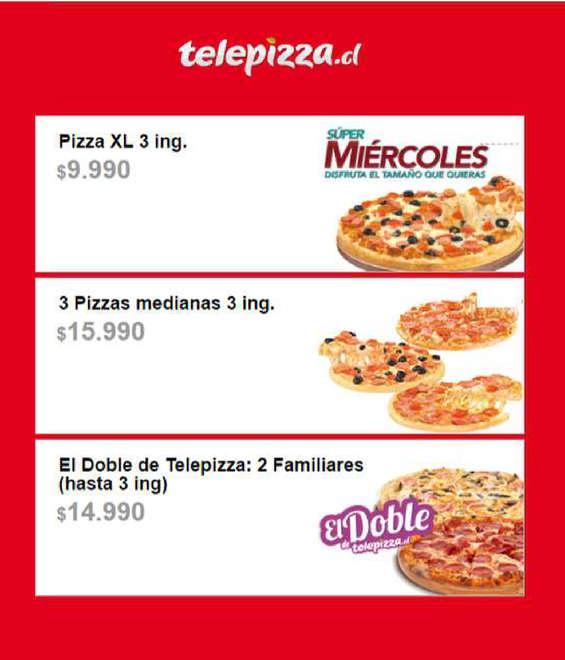 Ofertas de Telepizza, nuevo menú internet