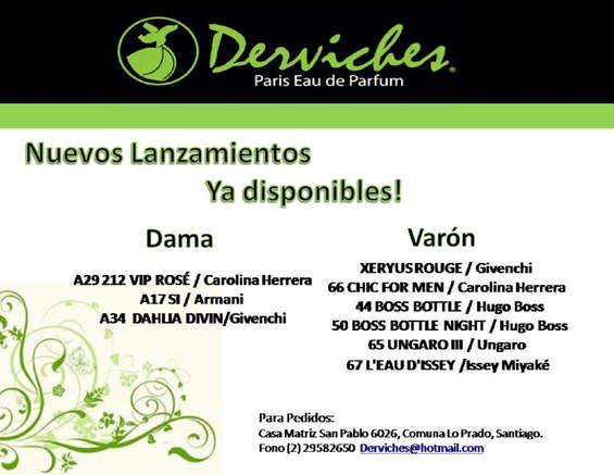 Ofertas de Derviches Perfumes, Nuevos lanzamientos