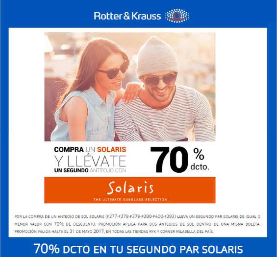 Ofertas de Rotter y Krauss, promo solaris