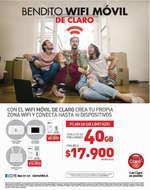 Ofertas de Claro, bendito wifi móvil