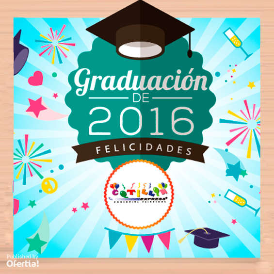 Ofertas de Cotillón Express, Graduación de 2016