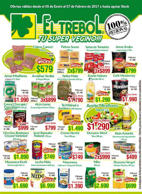 Ofertas de Supermercado El Trébol, Ofertas