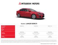 Mitsubishi lancer serie R
