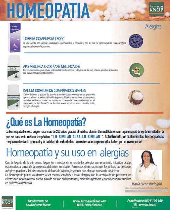 Ofertas de Farmacias Knop, Homeopatia