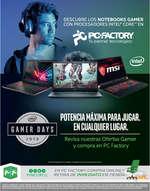 Ofertas de PC Factory, Gamer Days