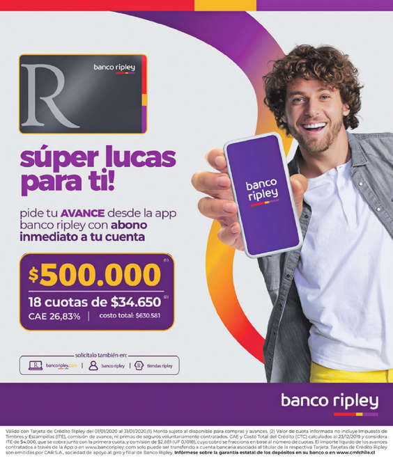 Ofertas de Banco Ripley, Súper Lucas