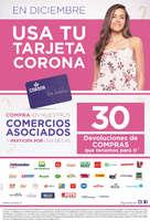 Ofertas de Corona, En diciembre usa tu tarjeta Corona
