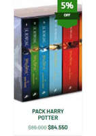 Ofertas de Feria Chilena del Libro, 5off Harry Potter