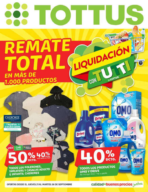 Ofertas de Tottus, remate final