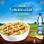 Ofertas de KFC, Salad chicken cesar is coming