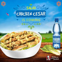 Salad chicken cesar is coming