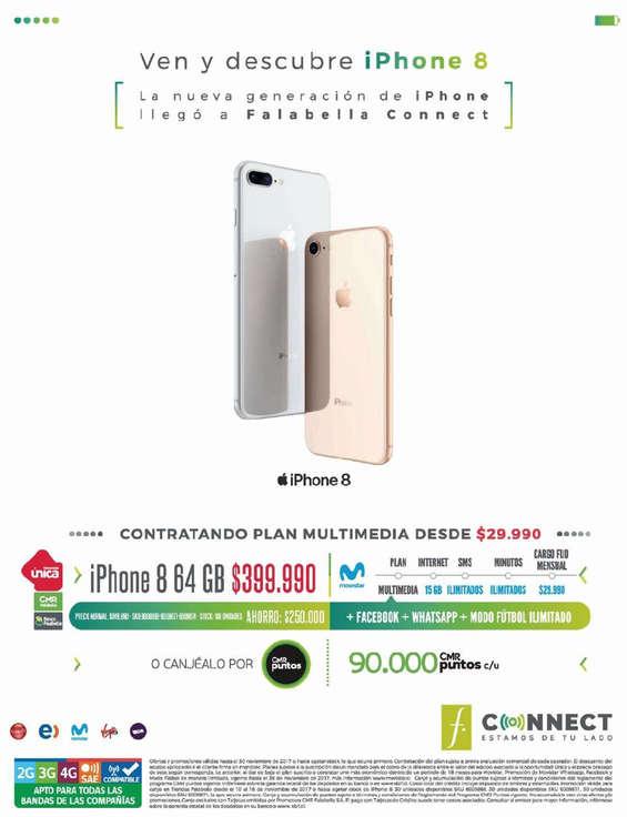 Ofertas de Falabella, Ven y descubre iPhone 8