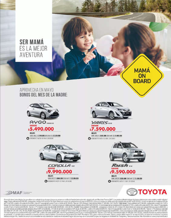 Ofertas de Toyota, Mamá On Board