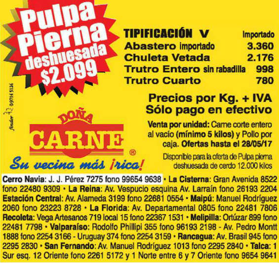 Ofertas de Doña Carne, ofertas de la semana doña carne