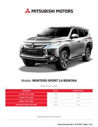 Montero Sport 3.0 Bencina