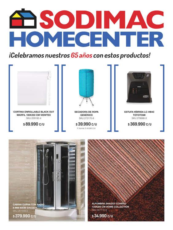 Ofertas de HomeCenter Sodimac, Especial Celebración 65 años