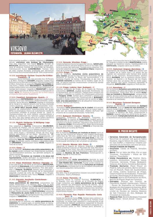 Ofertas de Europamundo, Mas de 15 Días 2019