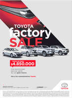 Ofertas de Toyota, Yoyota Factory Sale