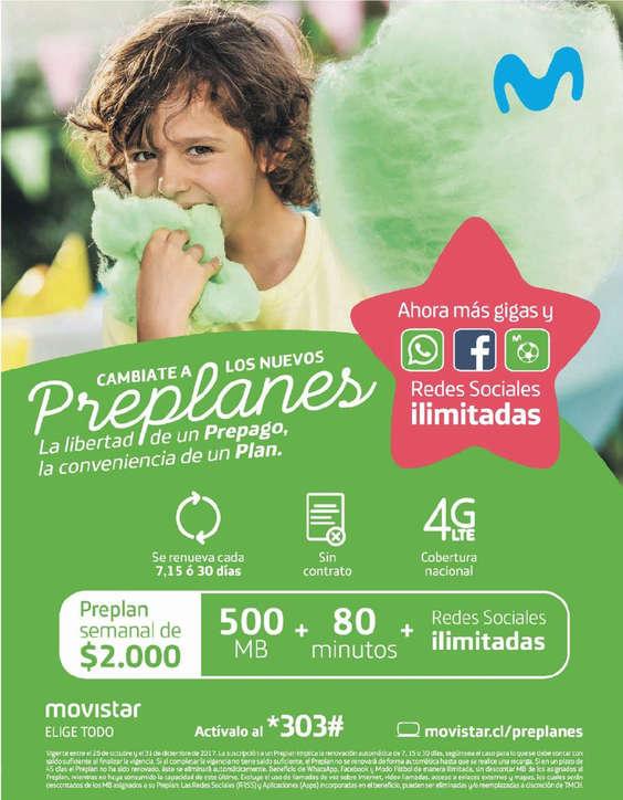 Ofertas de Movistar, Cámbiate a los nuevos Preplanes