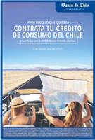 Ofertas de Banco de Chile, crédito de consumo