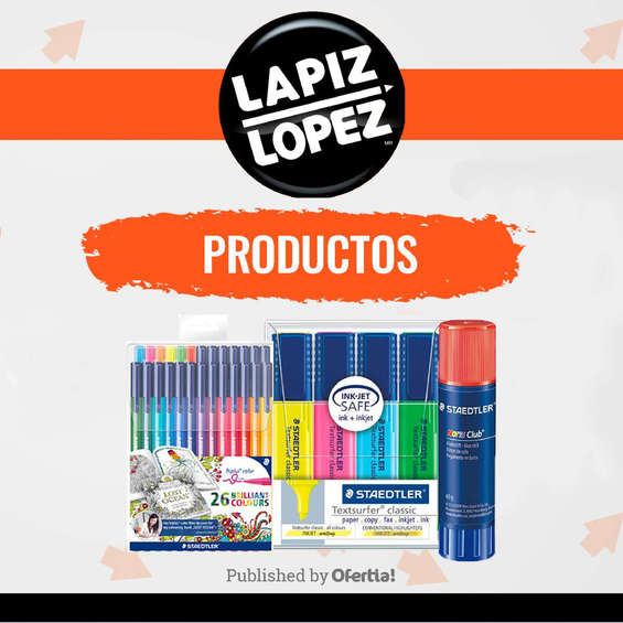 Ofertas de Lápiz López, Productos